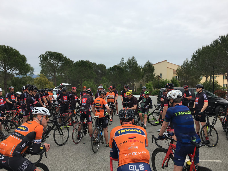 We have organised and guided PACE Riwal Cycling Team, Denmark, sponsor network's Spring cycling tours to Provence in 2017 and 2018. Cycling  in 4 days at 3 levels.